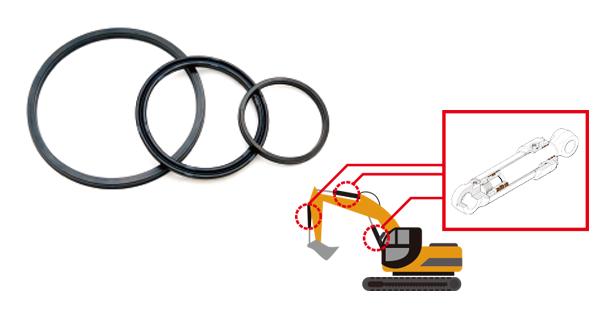 油圧シリンダー用パッキンの画像